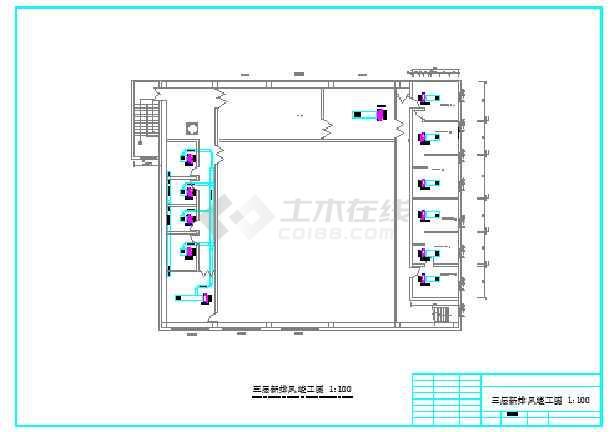 某健身房练功房中央空调设计施工图