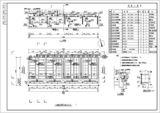工厂环保用v型滤池施工设计图(平面图)