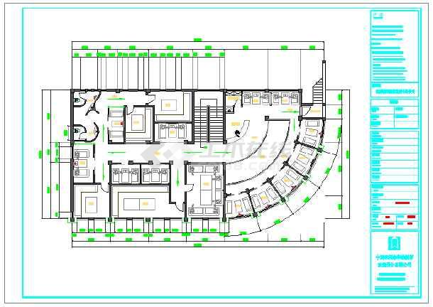 某地茶室装修设计施工图纸图片3