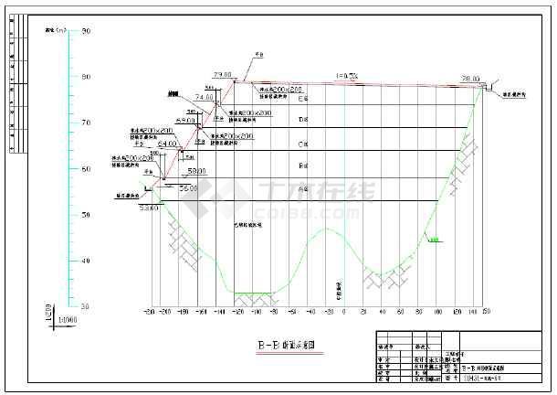垃圾填埋场封场覆盖体结构设计施工图_cad图cad2007绘图练习图片