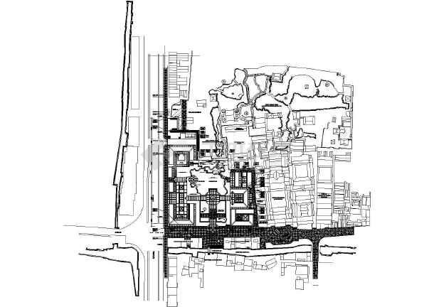苏州博物馆建筑方案全套图纸(含中平面图)