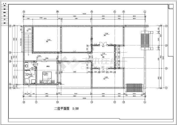 5米宽10.5米二层北方四合院建筑设计图(含4张外观效果)