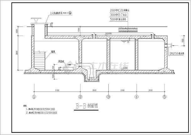 某400立方米矩形消防水池和泵房结构施工图图片3