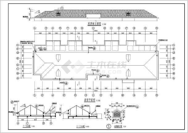 江苏某房屋平改坡屋顶结构设计施工图