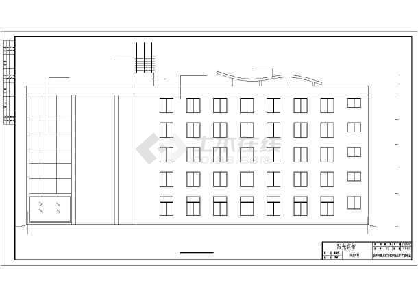 信阳市五层框架结构宾馆建筑设计方案图