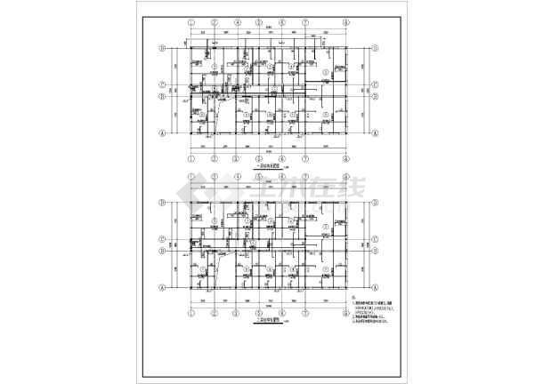 楼(屋)面板,楼梯,,等均采用现浇钢筋混凝土,采用毛石条形基础.