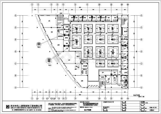 苏州单层框架结构菜市场室内装修设计施工图