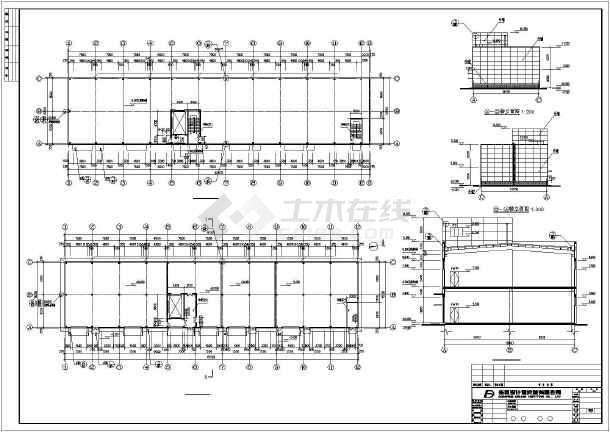 某公司两层钢结构工业厂房建筑设计施工图_cad图纸