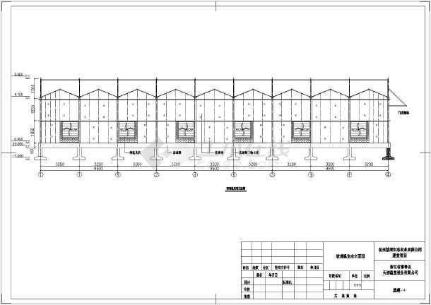 浙江某设备公司玻璃温室建筑设计方案图