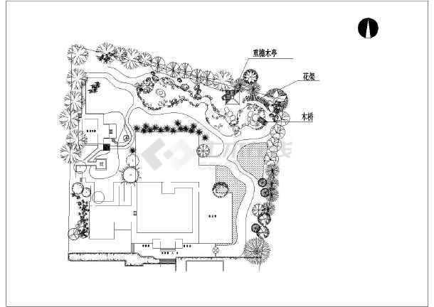 某地区某博物馆小品景观设计施工图