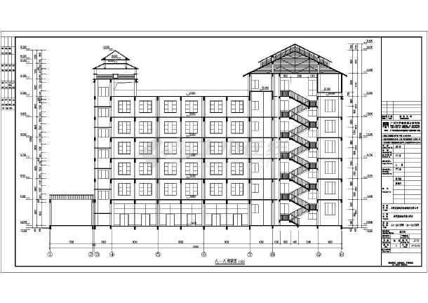 某六层框架结构酒店建筑设计方案图