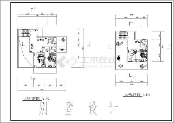 某小区地上三层砖混结构独栋别墅建筑设计方案