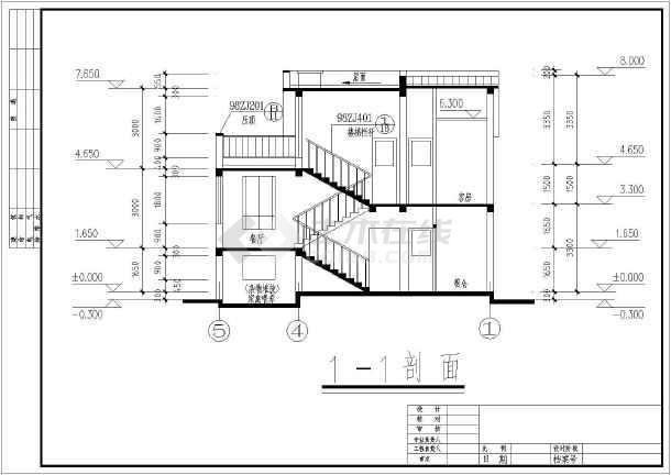 设计施工图,图纸内容包含:,各层,屋顶平面图,各,各剖面图,楼梯详图图片