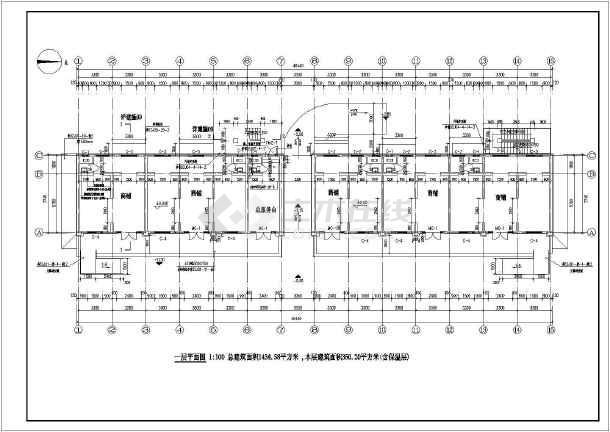 某地区三层宾馆综合楼建筑设计方案图