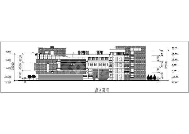 大学教学楼建筑设计图