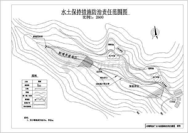 某矿厂水利工程水保v图纸图纸(全)_cad图纸打印cada3设置宽图纸下载线图片