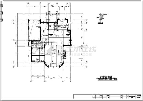 北方二层钢筋混凝土结构美式别墅建筑结构施工图