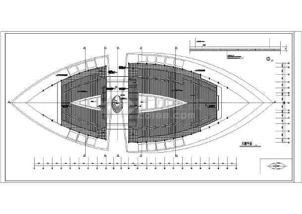 某地三层网架结构游泳馆建筑设计施工图图片