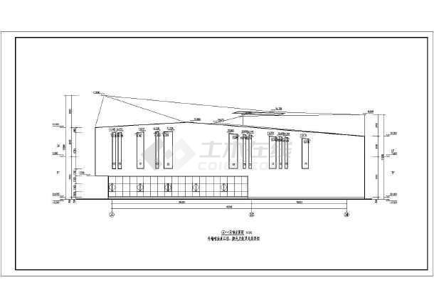某地2层钢结构图纸航空建筑方案设计图_cad图大永ENT展厅图片