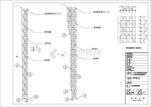 汶川某70m高边坡脚手架图纸设计图_cad图纸什么ds强电方案代表中图片