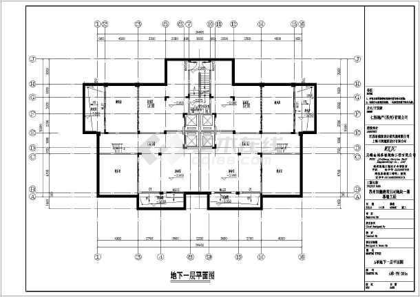 苏州四层框架结构叠拼别墅建筑设计施工图