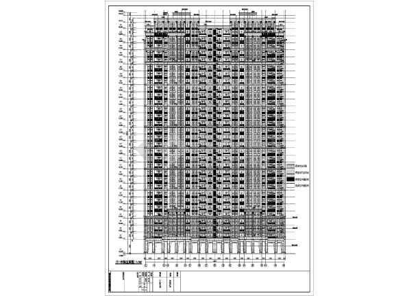 某地两栋32层框架剪力墙结构(底层商铺)住宅建筑施工图
