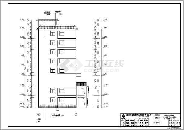 6层框架结构廉租房建筑施工图