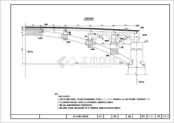 15.5+25+15.5空腹式钢筋混凝土连孔板拱桥施工图-图1