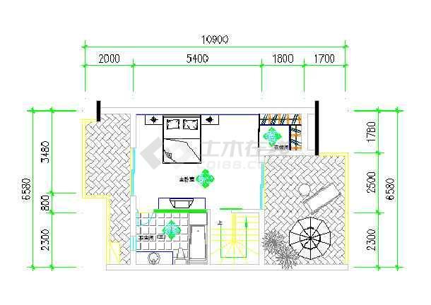 女孩卧室房间设计图 欧式展示