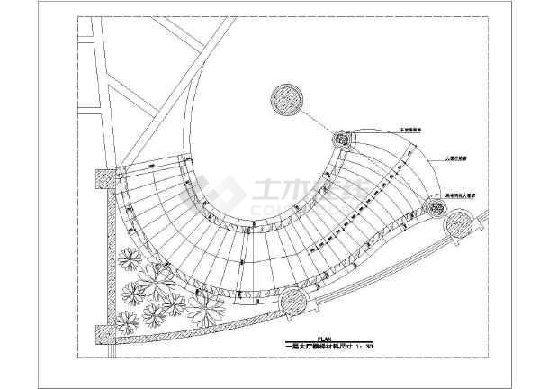 弧形钢结构楼梯装饰设计施工图(共13张)