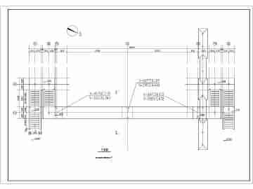 珠海市某人行天桥钢结构设计施工图