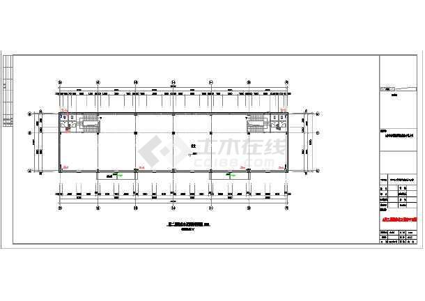北京某地临街框架结构商铺建筑设计施工图图片