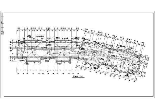 某地框架异形柱框架结构单元住宅建筑施工图-图2