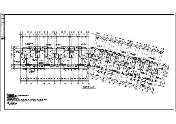 某地框架异形柱框架结构单元住宅建筑施工图-图3