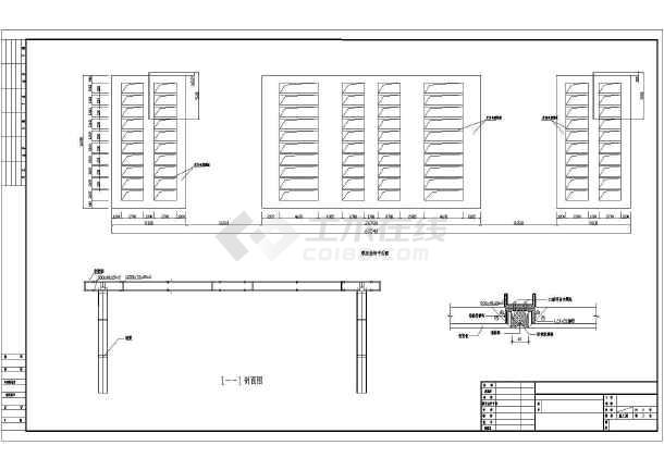 某小区屋顶钢结构飘板工程的二次设计图
