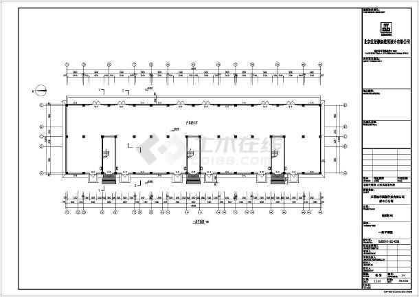框架结构检测楼施工图,一层功能为展厅,二层为办公,三层及以上为宿舍