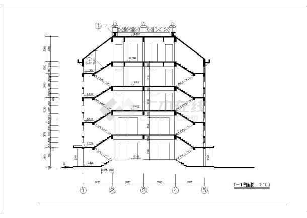 房屋建筑学课程设计三室两厅一厨一卫单元式住宅楼(居住建筑)图片
