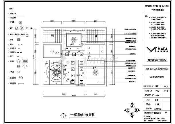 某地欧式别墅室内装修设计方案图纸