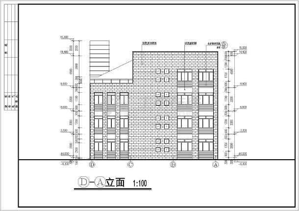 某学校三层小型图书馆建筑设计施工图