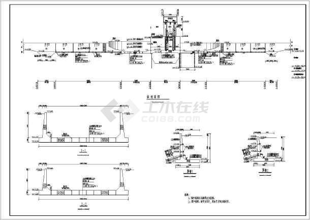 上海某水闸工程经典结构设计初步设计图