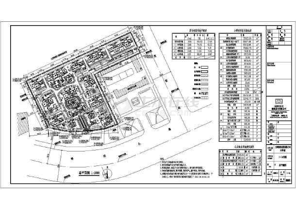 天津某住宅小区建筑规划设计总平面图图片