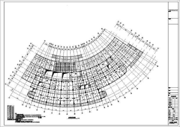 某结构带少量剪力墙框架图纸办公楼结构图_cp-p32168tqf00-弧形图片