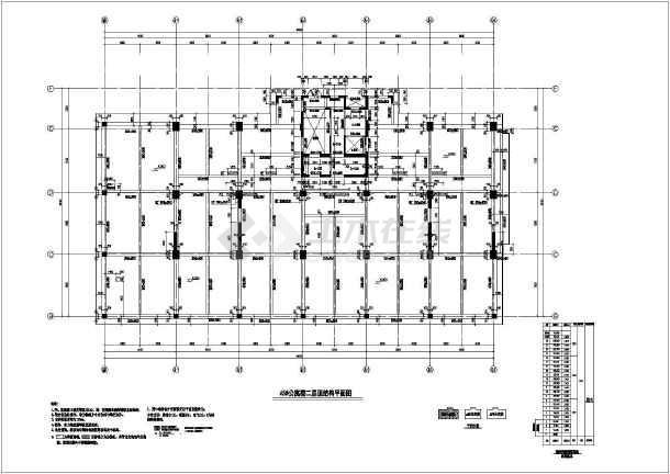 某地22层公寓楼结构方案设计图带地下室