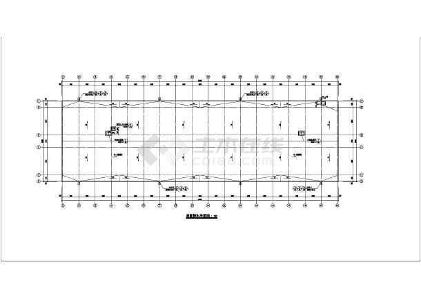 图纸为某学校6层框架结构宿舍楼建筑设计方案,地下一层地上6层,带独立