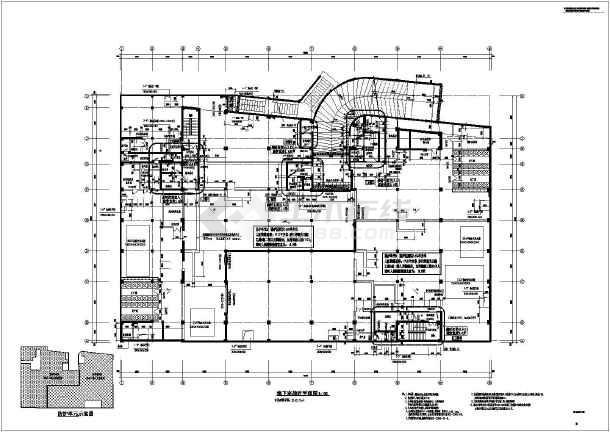 某中学二层室内体育馆建筑设计施工图图片