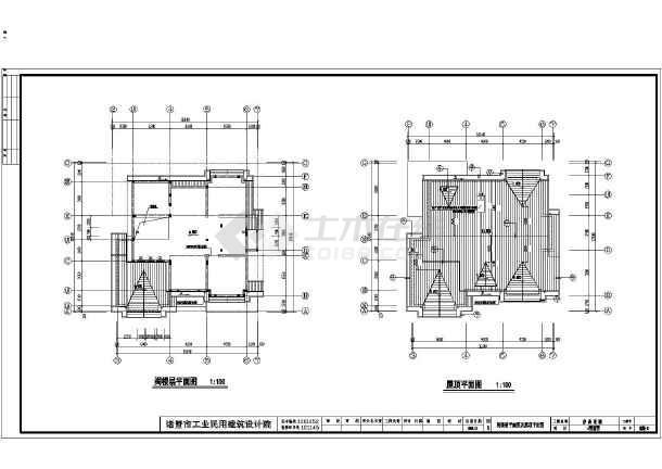 某地区全套别墅别墅框架结构建筑施工图二层翠圆图片