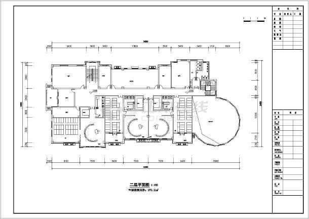 某地区三层6班幼儿园建筑设计平面方案图片
