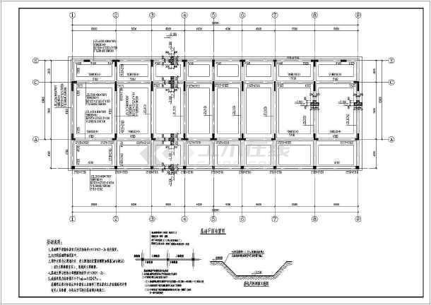 某地中式联排别墅结构施工图(异形柱结构)-图2