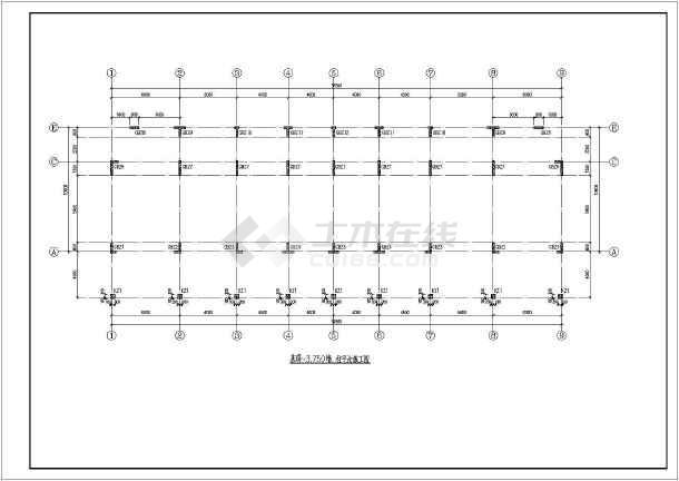 某地中式联排别墅结构施工图(异形柱结构)-图3