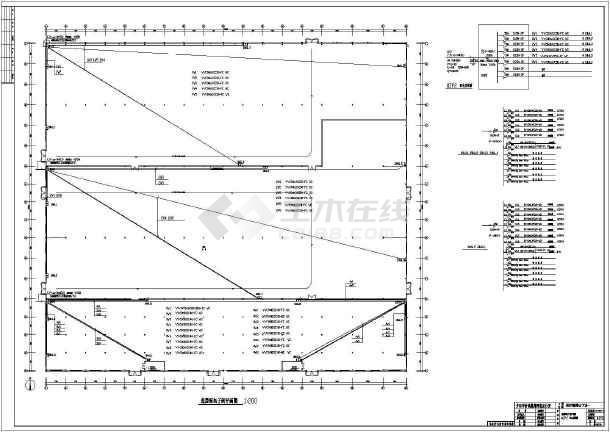 某照明钢结构电气二层设计施工图(厂房和接地如何看学图纸图片